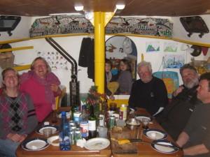L'équipage d'Xplore à bord du Petit Prince - Hovgaard Island, Antarctique