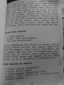 Les cerveaux de phoque ... frits ou en gratin ? - bases anglaises, Antarctique