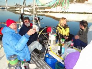 Soirée à la cool sur le Boulard, Vernadsky, Argentine Islands, Antarctique