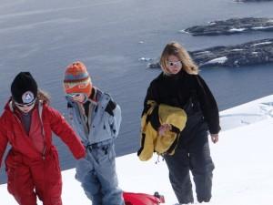 Toute partie de luge se mérite ! Hovgaard Island, Antarctique