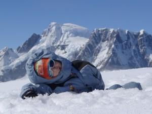Titouan au 2è sommet de Hovgaard Island, Antarctique