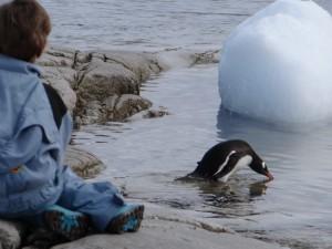 Une mise à l'eau étudiée - Portal Point, Péninsule Antarctique