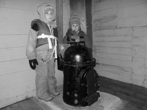 Le fameux poêle qui a valu tant de déboires à notre ami Thierry ... Wordie House, Argentine Islands, Antarctique