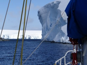 La porte d'entrée : une falaise de 80m - Pitt Islands, Antarctique